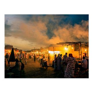 Exotic market at night postcard