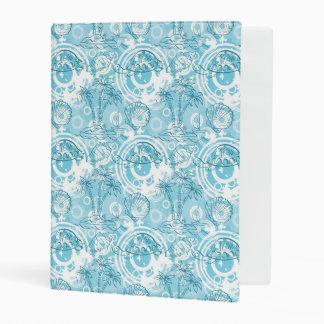 exotic ocean pattern mini binder