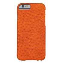 Exotic Orange Ostrich Leather iPhone 6 Case