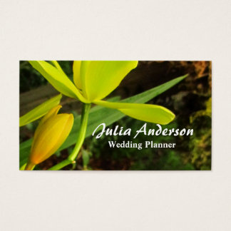 Exotic Orchids Wedding Planner Business Cards