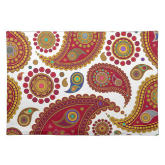 Exotic Paisley Placemats Cloth Place Mat