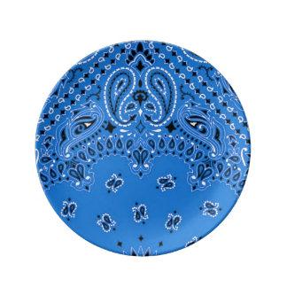Exotic Paisley Western Bandana BBQ Scarf Print Plate