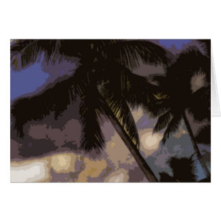 Exotic Palm Trees Card