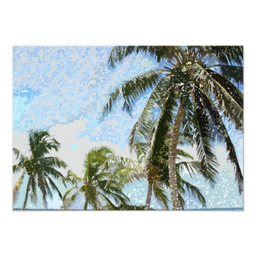 Exotic Palm Trees Invitations Announcements