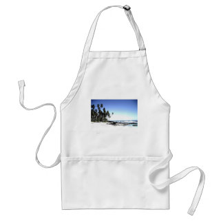 Exotic Palm Trees & Paradise Beach Adult Apron