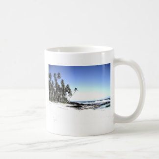Exotic Palm Trees & Paradise Beach Coffee Mug