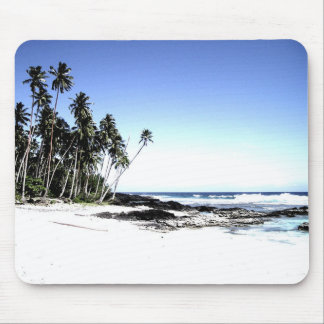 Exotic Palm Trees & Paradise Beach Mouse Pad