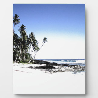 Exotic Palm Trees & Paradise Beach Plaque