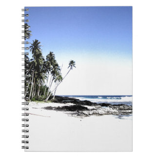 Exotic Palm Trees & Paradise Beach Spiral Notebook