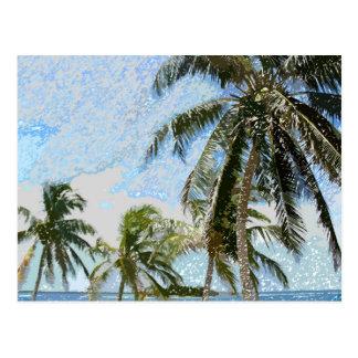 Exotic Palm Trees Postcard