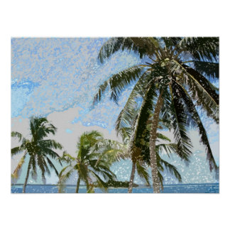 Exotic Palm Trees Poster Print