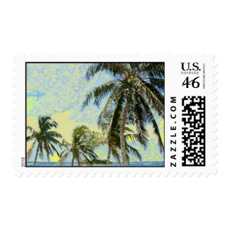 Exotic Palm Trees Stamp
