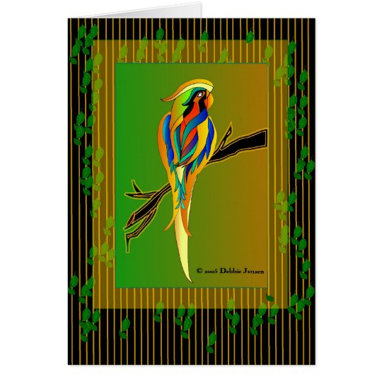 Exotic Parrot by Debbie Jensen Card