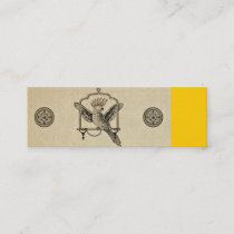 Exotic Parrot on Swing Mini Business Card
