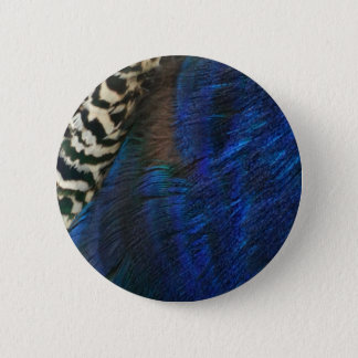 Exotic Peacock Blue Button