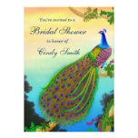 Exotic Peacock Bridal Shower Invitation