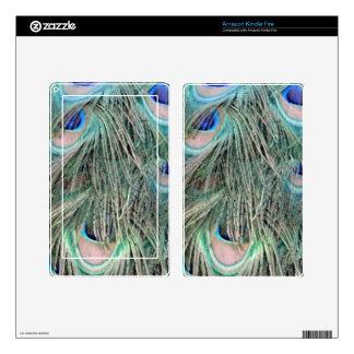 Exotic Peafowl Ruffled Feathers Kindle Fire Skin