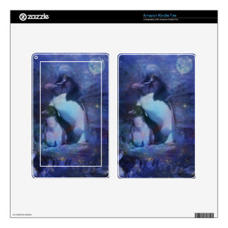 Exotic Penguins in Tuxedos Decals For Kindle Fire