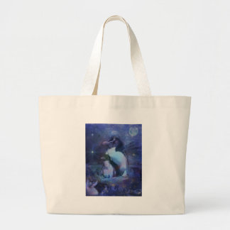 Exotic Penguins in Tuxedos Large Tote Bag