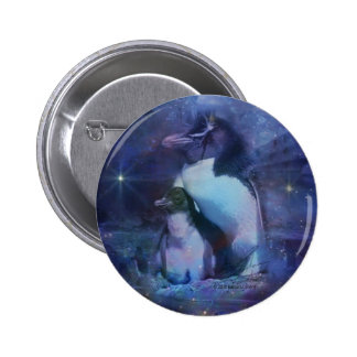 Exotic Penguins in Tuxedos Pinback Button