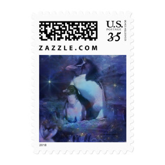 Exotic Penguins in Tuxedos Postage Stamps