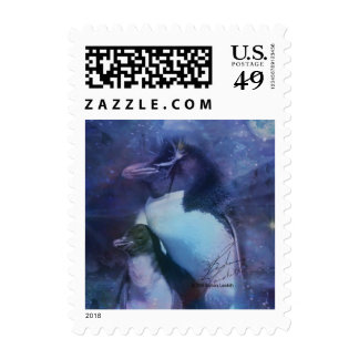 Exotic Penguins in Tuxedos Stamp