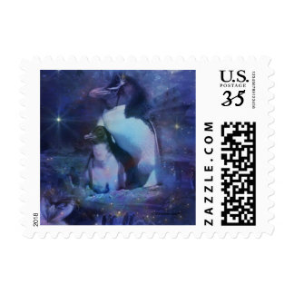 Exotic Penguins in Tuxedos Stamps