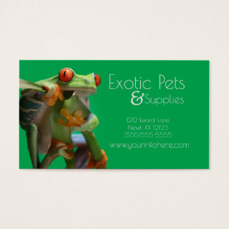 Exotic Pet Store or Vet Business Cards