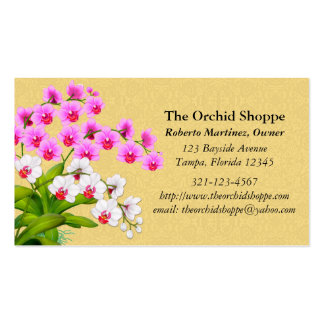 Exotic Phalaenopsis Orchid Flowers Business Cards