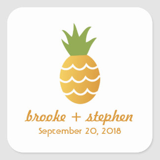 Exotic Pineapple Square Sticker