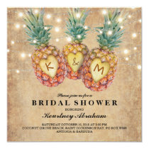 Exotic Pineapple Tropical Bridal Shower Card