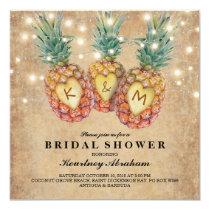 Exotic Pineapple Tropical Bridal Shower Invitation