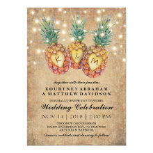 Exotic Pineapple Tropical Wedding Invitations