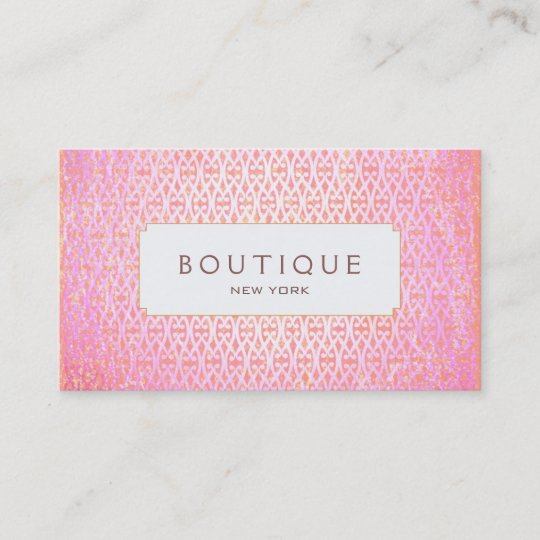 Exotic pink artistic pattern fashion and beauty business card exotic pink artistic pattern fashion and beauty business card reheart Gallery