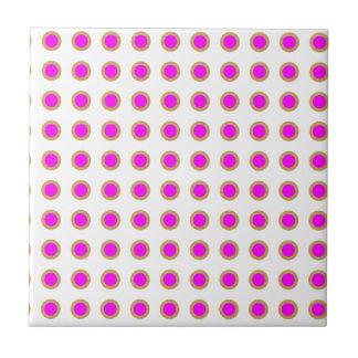 EXOTIC Pink Dot Matrix : Pattern Jewel Small Square Tile