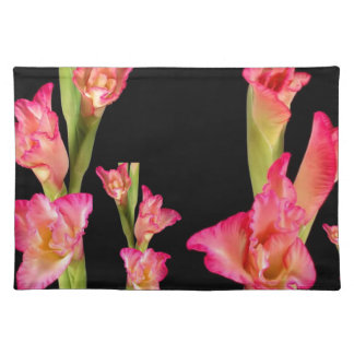 Exotic Pink Flower Bouquet Floral Elegant Gifts Cloth Placemat