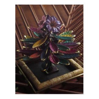 EXOTIC PLANT Flower ART- CASINO Interior Deco GIFT Postcard