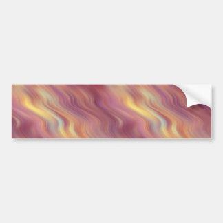 Exotic Plumeria Wavy Texture Bumper Sticker