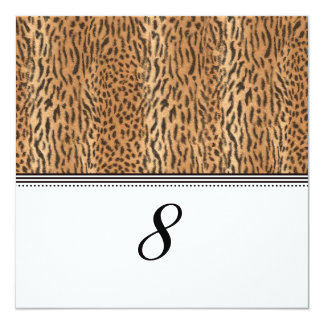 Exotic Print Animal Skin Reception Table Number