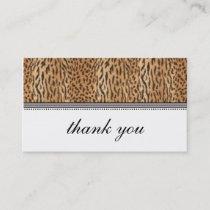 Exotic Print Animal Skin Thank You Card