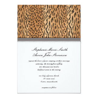 Exotic Print Animal Skin Wedding Invitation