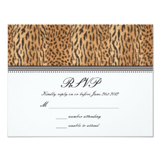 Exotic Print Animal Skin Wedding RSVP Card