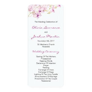 Exotic Purple Orchid Watercolor Wedding Programs