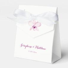 Exotic Purple Orchid Wedding Favor Box