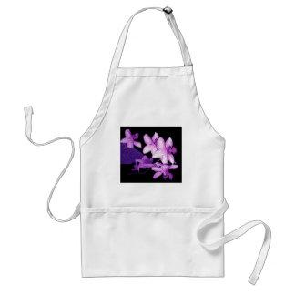 Exotic purple orchids adult apron