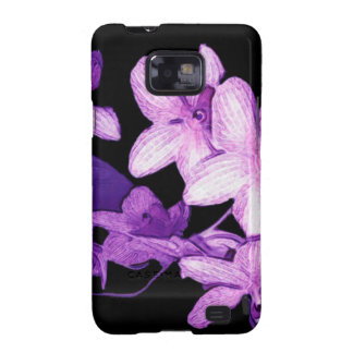 Exotic purple orchids samsung galaxy SII cases