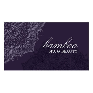 Exotic Purple Spa Business Card