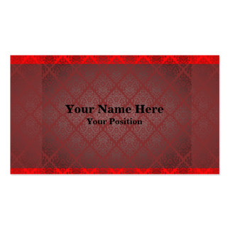 Exotic Red and Black Business Card