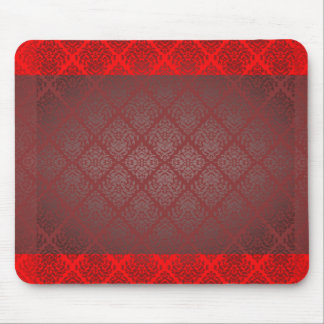 Exotic Red and Black damask wedding gift Mousepad