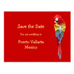 Exotic Red Destination Wedding Announcements Post Card